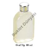 Oval tip pet şişe 80 ml