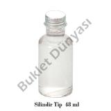 Silindir tip pvc şişe 48 ml