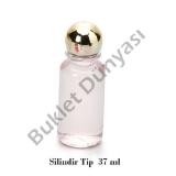 Silindirik pvc  tip şişe 37 ml
